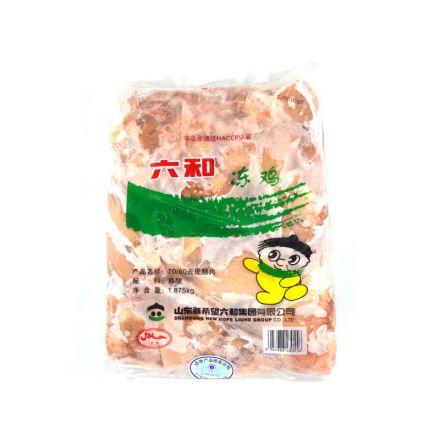 断货中【赔钱甩卖不算起送价】六和7080去皮汉堡鸡腿去皮腿肉(乐亭) 1.875kg/袋 6袋/箱